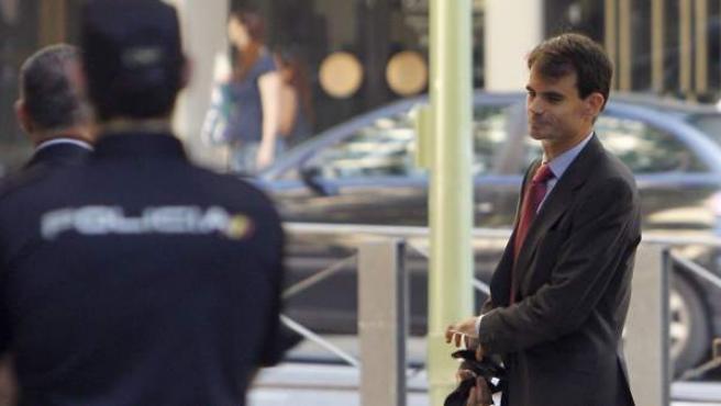 El juez Pablo Ruz, en la Audiencia Nacional.