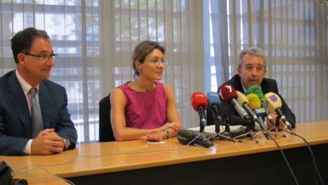 Bascuñana, García Tejerina y Cerdá en rueda de prensa