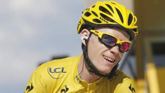 Chris Froome en la etapa de Amnecy-Semnoz