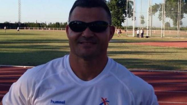 El atleta paralímpico David Casinos, durante un entrenamiento.