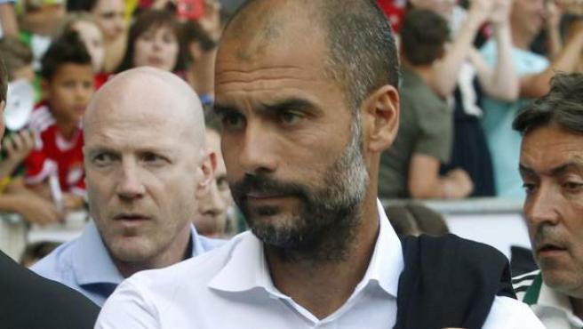 El entrenador del Bayern, Pep Guardiola, tras el partido ante el Hamburgo.