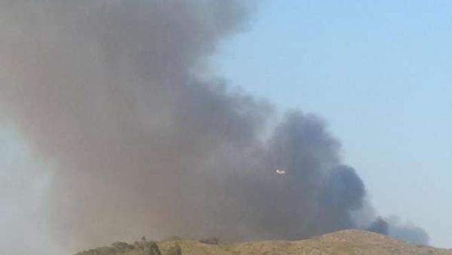 Imagen del incendio de Benaguasil