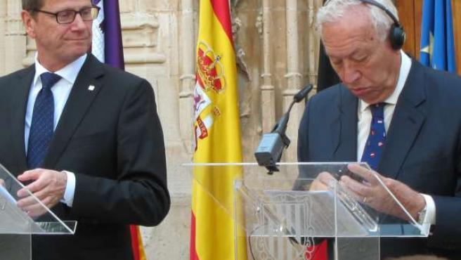 Ministros de EXteriores alemán y español