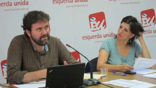 Rubén Pérez y Yolanda Díaz en el Consello Nacional de EU