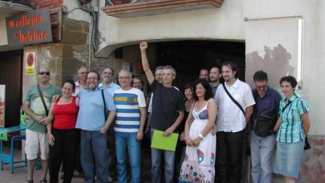 Chesús Yuste visita la zona de La Galliguera.