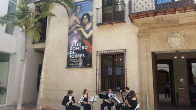 Músicos en el Museo Carmen Thyssen de Málaga