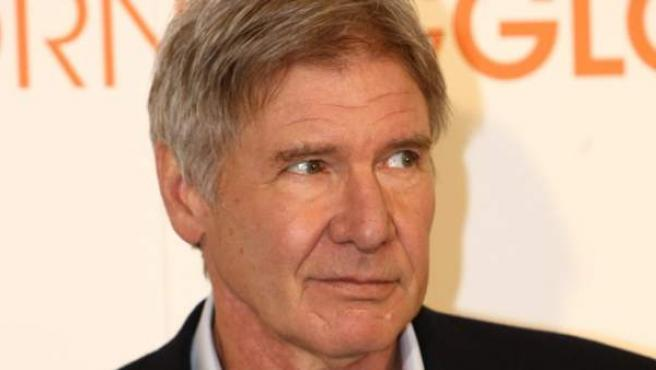 El actor Harrison Ford, durante la presentación en Madrid de 'Morning Glory'.