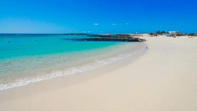 Playa de El Charcón, en Fuerteventura.