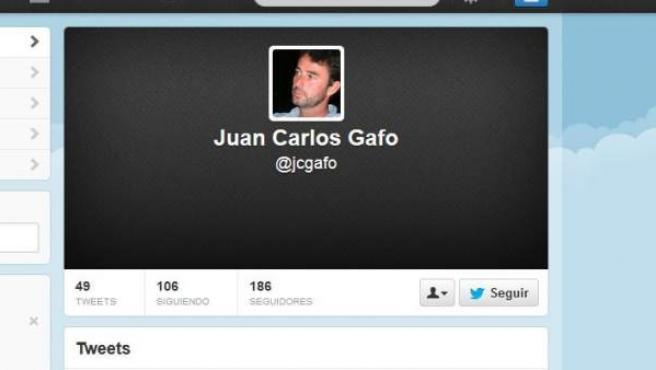 Perfil en Twitter de Juan Carlos Gafo.