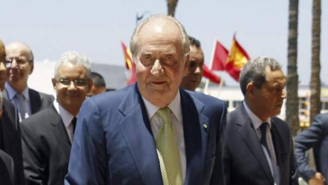 Juan Carlos I en una visita a Rabat, Marruecos.