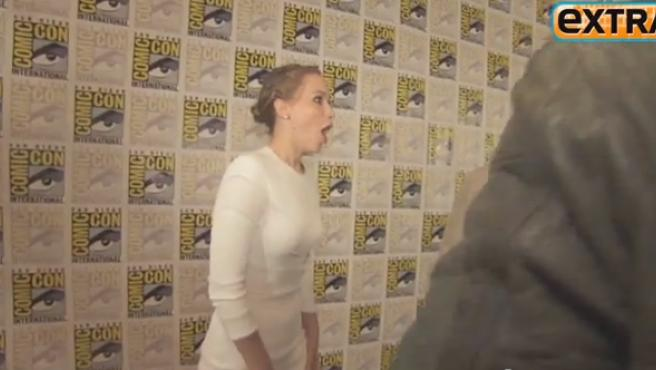 Vídeo: Jennifer Lawrence alucina al conocer a Jeff Bridges