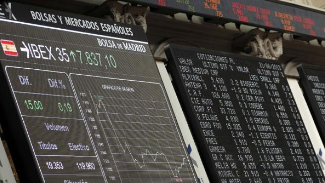 El principal indicador de la Bolsa española, el Ibex-35.