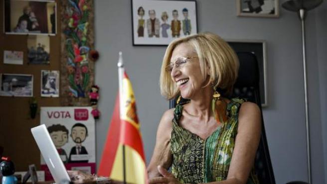 Rosa Díez, líder de UPyD, en su despacho.