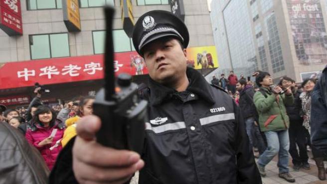 Imagen de un policía chino.