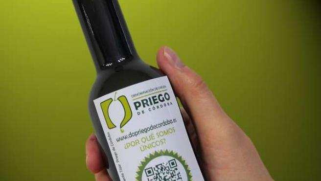 Una botella de aceite de la DOP Priego de Córdoba