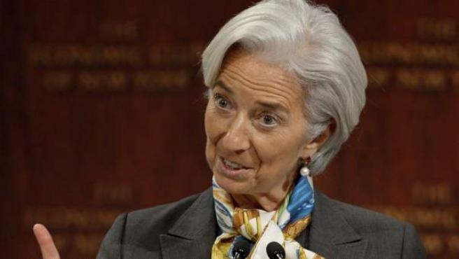 La directora del Fondo Monetario Internacional (FMI), Christine Lagarde.