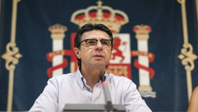 El ministro de Industria, Energía y Turismo, José Manuel Soria, en una rueda de prensa en Las Palmas de Gran Canaria.