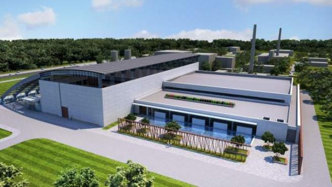 Imagen virtual del futuro centro donde estará ubicado el láser mas potente del mundo.