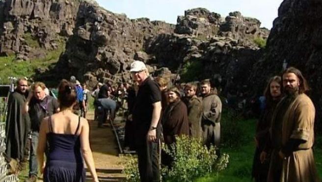 Imágenes de rodaje de la cuarta temporada de 'Juego de Tronos'.