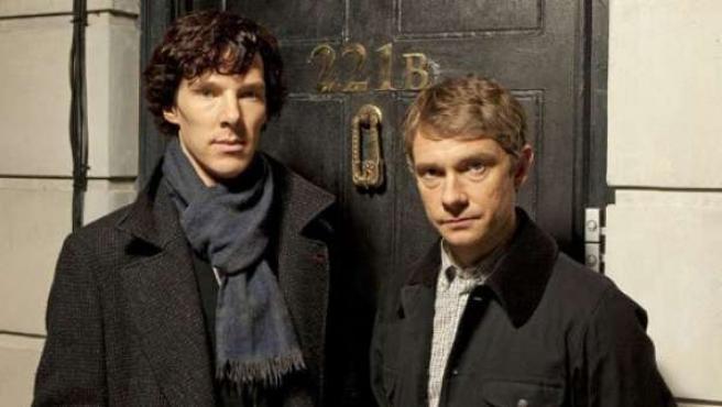 Los protagonistas de 'Sherlock', la serie que ha fascinado a los británicos.