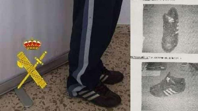 La zapatilla fue clave para inculpar al segudo detenido.