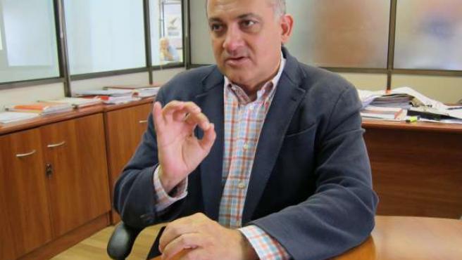 Joan Calabuig en un momento de la entrevista