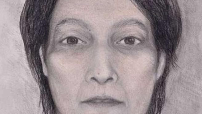 Dibujo de la mujer muerta hace más de 12 años hallada en aguas de El Camello