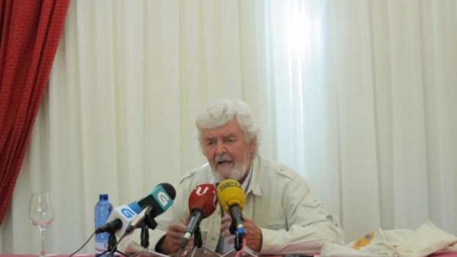 Xosé Manuel Beiras En Rueda De Prensa