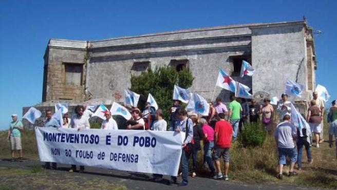 Manifestación del BNG en Monteventoso (Ferrol)