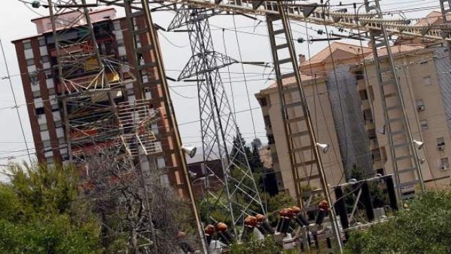 Una subestación eléctrica de Málaga.