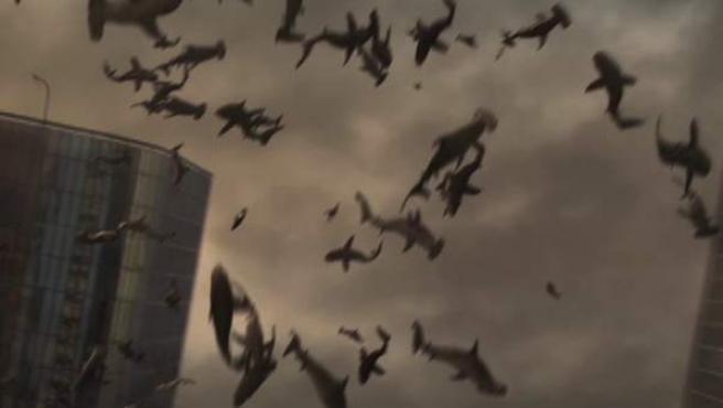 Imagen de la película Sharknado.