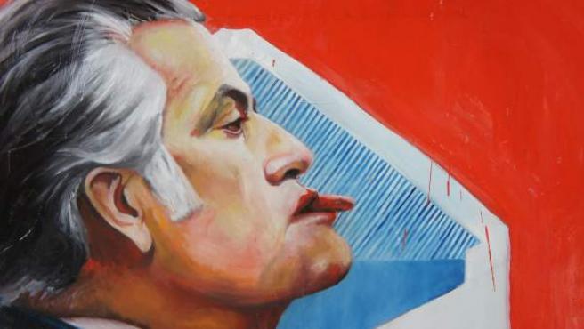 Detalle de la obra 'Sobre todo, Bárcenas', del artista Toño Velasco, que el Ayuntamiento de Arenas de San Pedro (Ávila) quería que se retirara de una exposición.