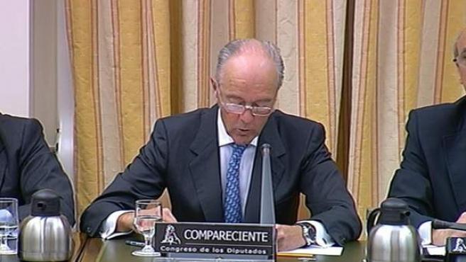 Gonzalo Ferre, presidente del Administrador de Infraestructuras Ferroviarias (Adif), durante su comparecencia en el Congreso de los Diputados sobre el accidente de tren de Santiago.