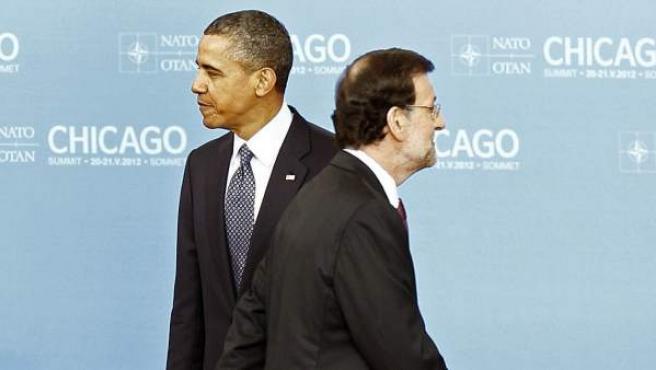 El jefe del Gobierno español, Mariano Rajoy, y el presidente de Estados Unidos, Barack Obama.