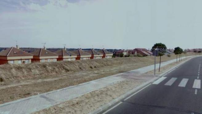 Imagen de la Avenida de la Unión Europea, Arroyomolinos, Madrid.