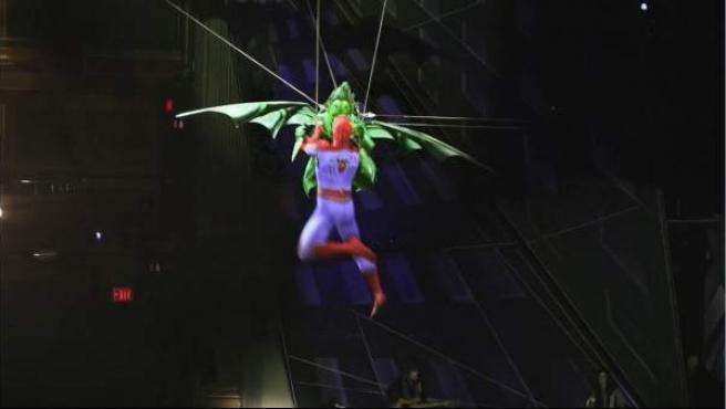 Una escena del musical 'Spider-man: Turn Off the Dark' de Broadway.
