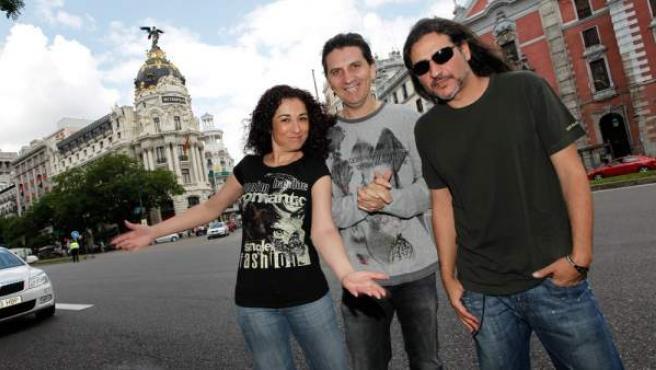 Los miembros de Camela: María Ángeles, Miguel Ángel y Dionisio.