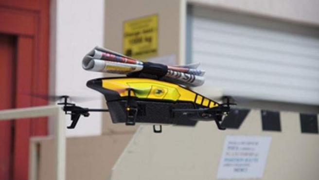 Imagen de un modelo de dron.