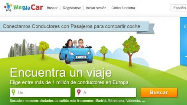 Web de BlaBlaCar.