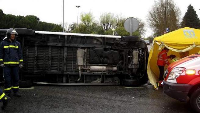 Imagen de archivo de un accidente de tráfico en Madrid