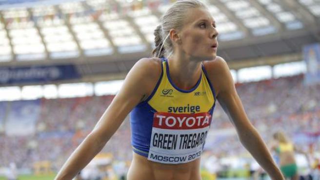 La saltadora de altura sueca Emma Green.