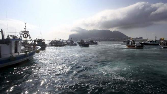 Medio centenar de barcos pesqueros de La Línea de la Concepción y Algeciras.