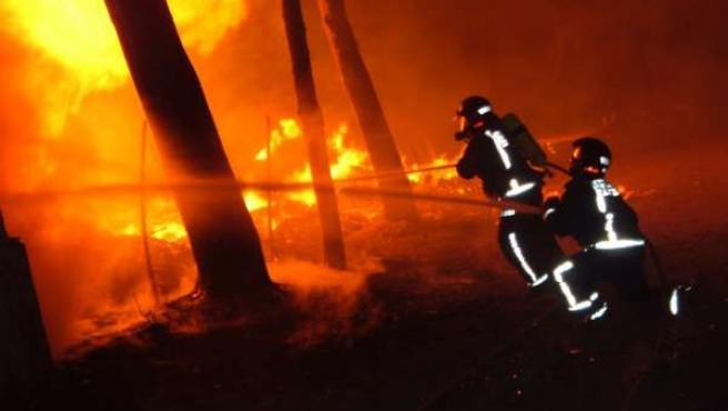 Lucha contra incendios en la Región