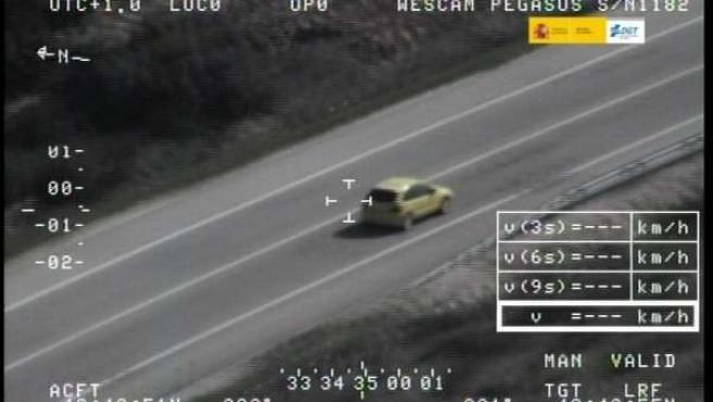 Exceso de velocidad, radar, coche