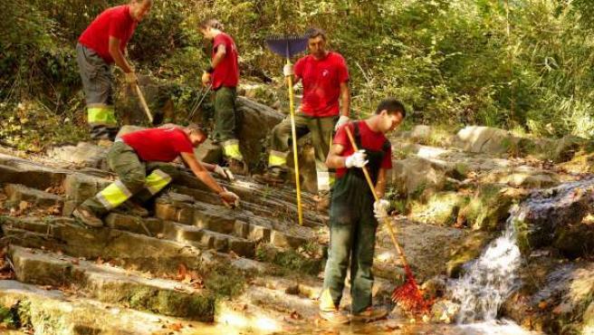 Personas en riesgo de exclusión trabajan en proyectos naturales