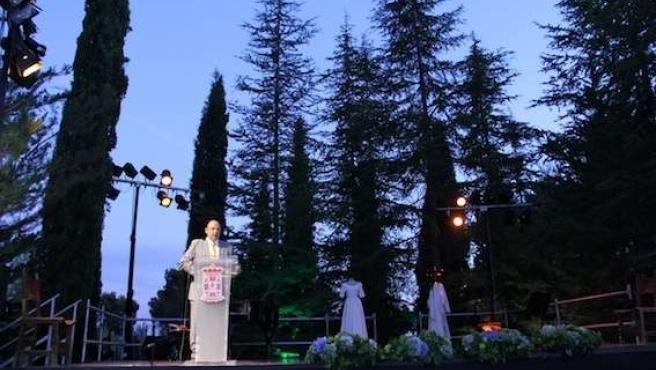 El presidente de la Diputación, Sebastián Pérez, en los actos conmemorativos