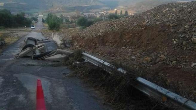 Estado de la carretera a Somanés, Sta. Cilia de Jaca