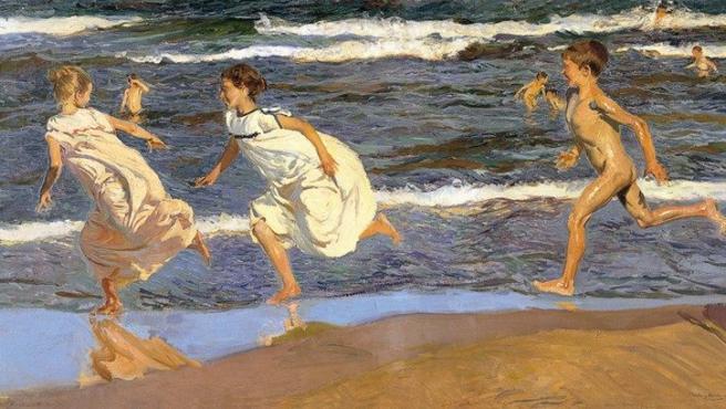 'Corriendo por la playa', cuadro de Sorolla de 1908