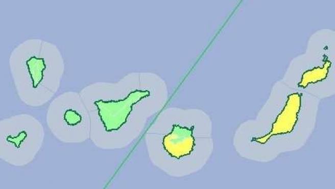Aviso amarillo en la provincia de Las Palmas