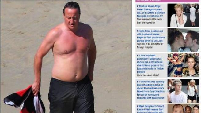 David Cameron fotografiado en bañador durante sus vacaciones estivales.